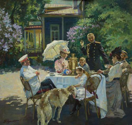 "Владимир Первунинский. 31.  "" На даче. """